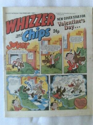 WHIZZER AND CHIPS COMIC VALENTINES DAY EDITION 14th FEB 1987