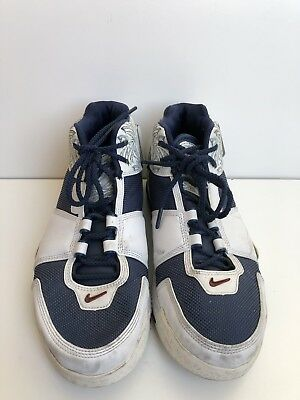 size 40 b1bab 0d97b Nike Zoom LeBron 2 Size 9.5 2004 White Navy 309378 441 AUTHENTIC Preowned
