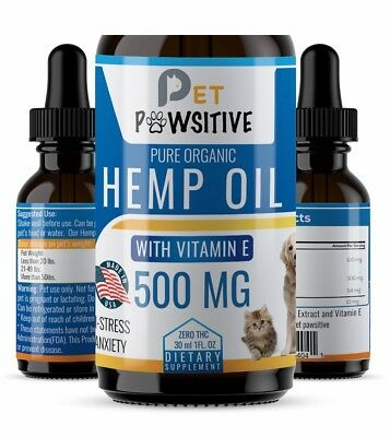 [3 Pack] Cbd Oil for Dogs Cats Pets (500mg) -Anxiety Relief -Hemp Calming Drops
