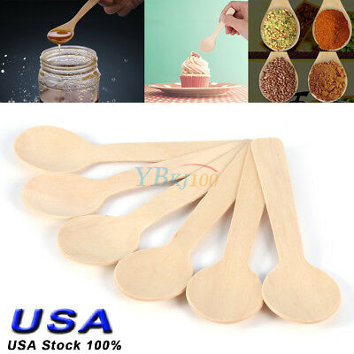 100pc/Set Bamboo Utensil Kitchen Wooden Cooking Tools Spoon Spatula Mixing Gifts