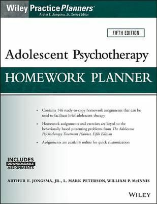 Adolescent Psychotherapy Homework Planner_1 Minute Delivery[E-B 0 0K]