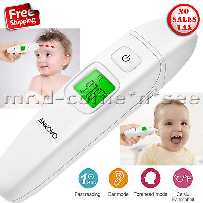 Digital Ear Forehead Thermometer Baby Kids Fever Health Medical Body Temperature