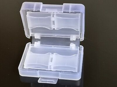 2x CF/SD Card Compact Flash Memory Card Holder Box Storage  Hard Plastic Case