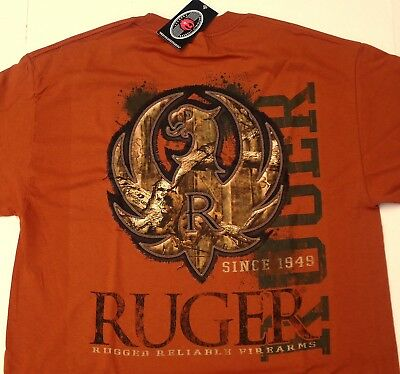 6088971eb RUGER Firearms Since 1949 Camo Stitch Eagle Men's T Shirt Lg - 3XL NEW  Licensed