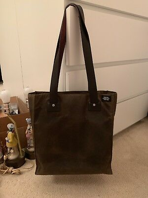7b3ac9462 Jack Spade Wax Dipped Canvas Tote Bag Weekender Carry All Tin Cloth New  York NYC