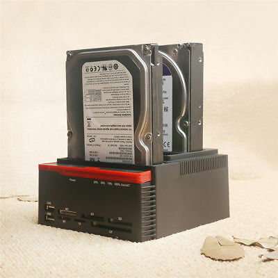 External Triple SATA IDE SATA Docking Station 2.5''/3.5''Hard Drive Card Reader