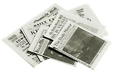 Dollhouse Miniature Print Newspapers Several Black & Off White Pages 1:12 Scale