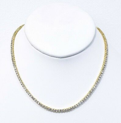 3Mm 20Ct Vs1 Diamond Clarity Crystal Tennis Chain  Best Quality Real Goldfinish