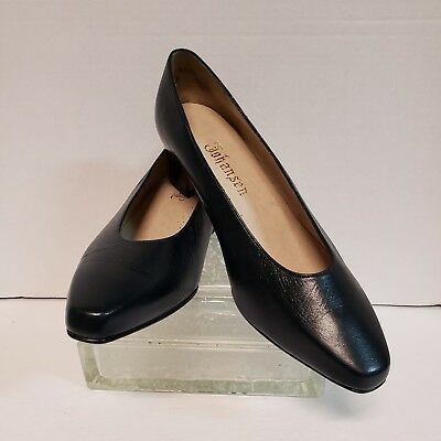 c5e69af6982c Vintage Johansen Womens Sz 8.5 D Pumps Heels Black Leather Career Wear to  Work
