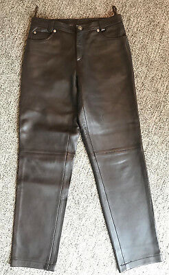 0b40ee9e65 Gianni Versace Couture Soft + supple Leather Biker Pants 30