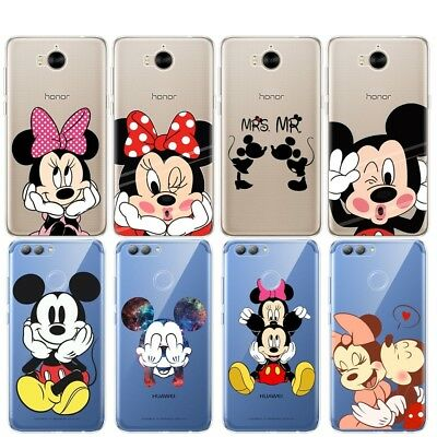 Disney Minnie Mickey Cartoon Soft TPU Cover Case For Huawei Y5 Y6 Y3 2017 Nova