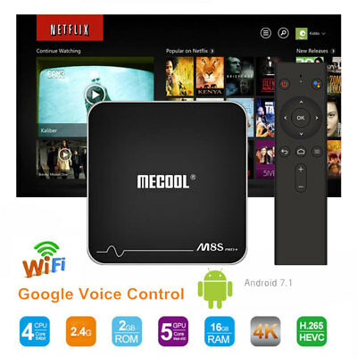 MECOOL M8S PRO+ Smart TV Box Android 7.1 2GB+16GB WiFi Bluetooth Voice Control