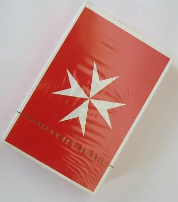 Knights Hospitaller Order of St John Malta.  Pack of Playing Cards  Red New
