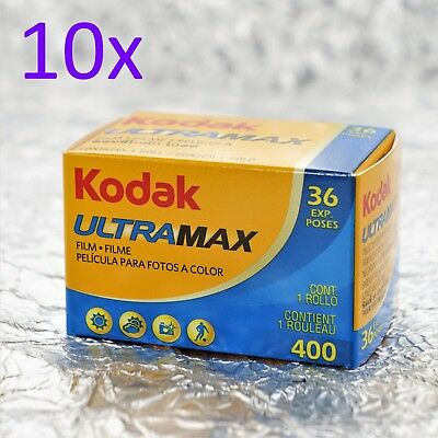 10x Kodak Ultramax 400 35mm (36 pictures) film *FREE POST*