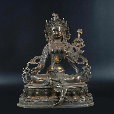 Amazing Chinese Bronze Sitting Buddha Statue Scuplture Tibetan Praying Buddha