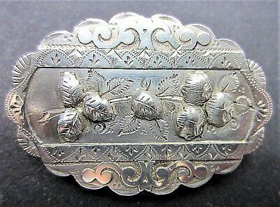 Victorian 1885 Sydenham Brothers Sterling Silver Brooch for Sale