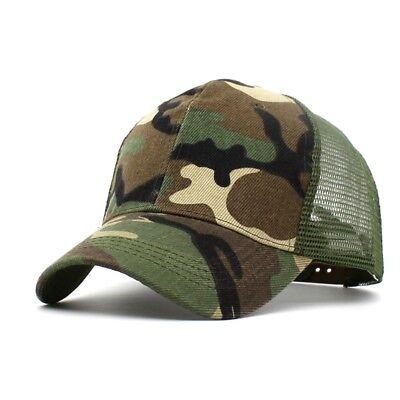 2019 Unisex Mesh Camo Outdoor Hot Cap Military Hunting Hiking Baseball Hat