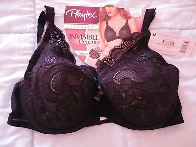 SOUTIEN GORGE PLAYTEX   neuf   Invisible Elegance Noir Taille 95 C ... 4057c54ed9b