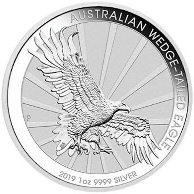 2019 Wedge Tailed Eagle 1oz Silver Coin BU -with Capsule
