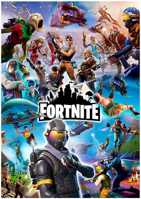 Fortnite Poster Printed on A3 260gsm Photographic Paper for Excellent Quality!!