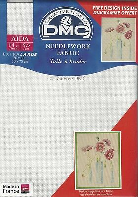 "VAT Free DMC 14 Count Ct Cross Stitch Large Aida Line 842 Brown 20/"" x 30/"" New"