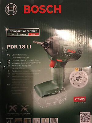 Bosch PDR18Li Cordless IMPACT DRIVER with Lithium-ion 18v 2.0Ah LI-Ion Battery