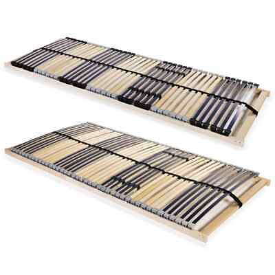 vidaXL Slatted Bed Base with 42 Slats 7 Zones FSC Frame Bedroom Multi Sizes
