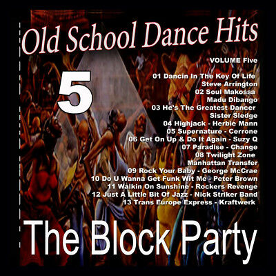 70s 80s Vol5 Block Party Old School Dance Hits DJ Compilation Mix CD