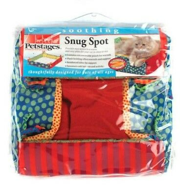 Pet Stages Snug Spot Warming Cat Bed with Microvable Pouch for Warmth Kittens