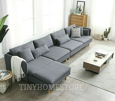 OLIVER LUXURY MODULAR Modern Fabric Corner Sofa with Chaise ...
