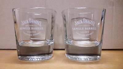 2 Bicchieri Jack Daniel's Single Barrell  Hand Selected Tennessee Wiskey 25cl
