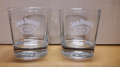 2 Bicchieri Jack Daniel's Old n°7 Brand Tennessee Wiskey 25cl Come Nuovi