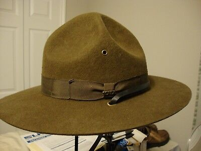 Scout Campaign Hat by Scala Classico, Size: Large, 100% Wool, Olive, Chin strap