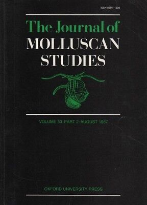 THE JOURNAL OF MOLLUSCAN STUDIES (Aug 1987) LAND SNAIL, LIMPETS, SHELLS & WHELKS