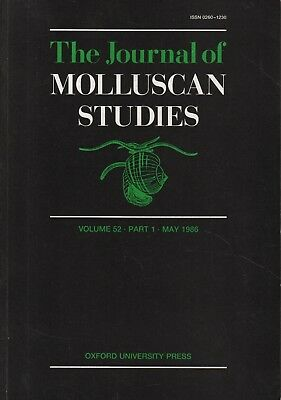 THE JOURNAL OF MOLLUSCAN STUDIES (May 1986) LAND SNAIL, LIMPETS, SHELLS & WHELKS