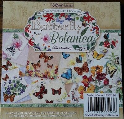"5/"" x 5/"" Sample Pack 25x Hunkydory The Square Little Book of Butterfly Botanica"