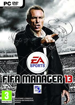 Fifa Manager 13 Pc Microsoft Windows Dvd Game Nuovo Ea Sports