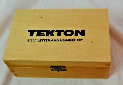 TEKTON 5/32-Inch Letter and Number Set, 36-Piece