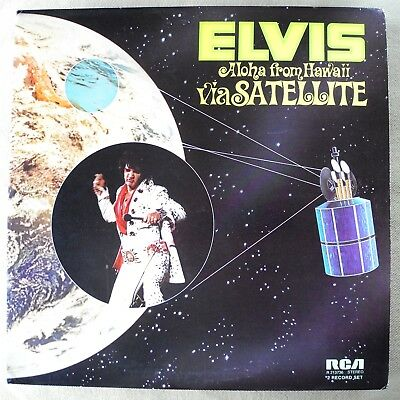Elvis Presley Aloha From Hawaii Mint Black Label Record Club Not Quad Rarity 2lp