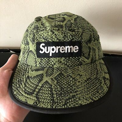 42f7ce9e supreme ss 2012 Snake skin Soft Bill Camp Cap green box logo 5 panel hat  camo