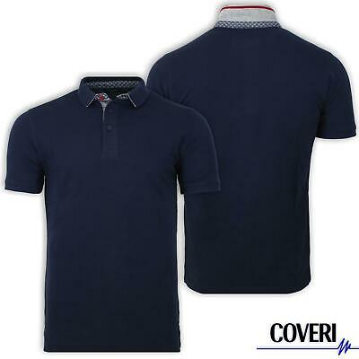 Polo Uomo Manica Corta 100% Cotone Piquet COVERI MOVING 4 Colori M L XL XXL 3XL