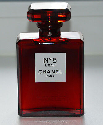 Chanel N5 L'eau red decorative bottle factice dummy display version Holiday 2018