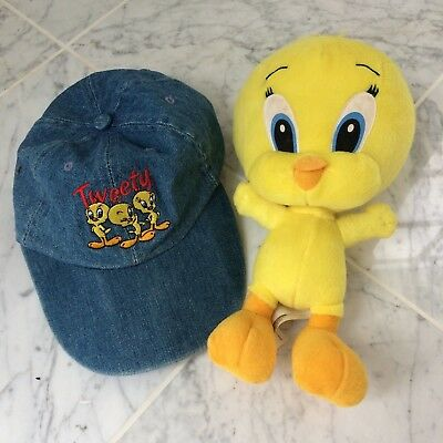 Looney Tunes Warner Bros Tweety Bird Embroidered Kids Baseball Cap + Bird