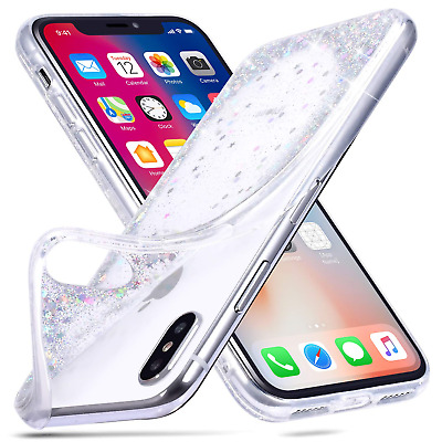 ZTOFERA Sparkle Case for iPhone XS X,Bling Glitter [Flowing Liquid Quicksand...