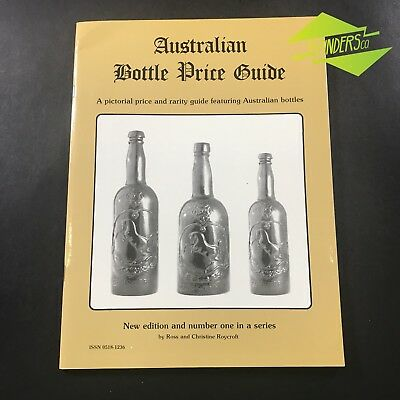 AUSTRALIAN BOTTLE PRICE GUIDE NO.1 By ROYCROFT ANTIQUE GLASS CODD GINGER BEER