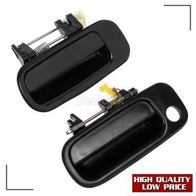 Pair Black Exterior LH Front Rear Left Driver Door Handle For 93-96 TOYOTA CAMRY