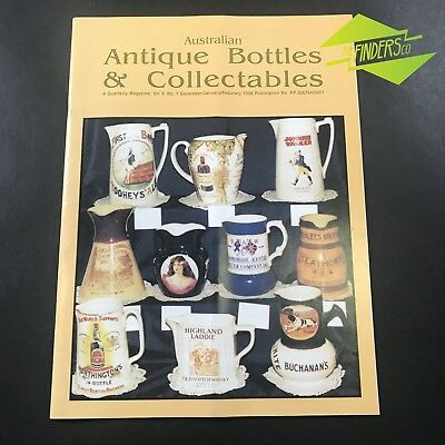 AUSTRALIAN ANTIQUE BOTTLES & COLLECTABLES MAGAZINE Vol.4 No.7 1998 WHISKY JUGS