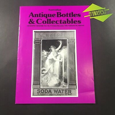 AUSTRALIAN ANTIQUE BOTTLES & COLLECTABLES MAGAZINE Vol.1 No.14 1992 SCHWEPPES