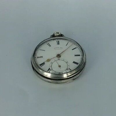 1866 Fusee Silver Cased Open Faced Thomas Fox Liverpool Pocket Watch Running