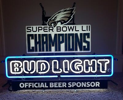 cb691da99a3 PHILADELPHIA EAGLES SUPER Bowl Neon Bud Light Sign -  234.28